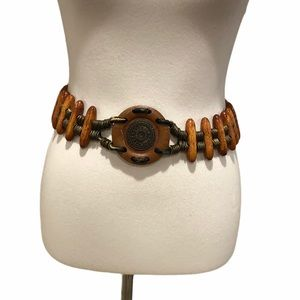 Wooden Boho Statement Belt